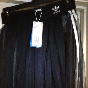 Adidas sheer tulle skirt. Has matching jacket.